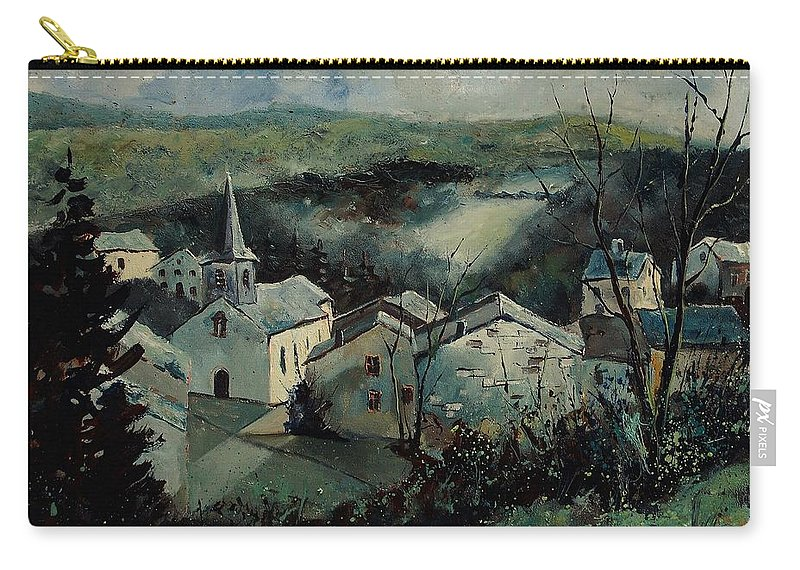 Landscape Carry-all Pouch featuring the painting Dohan by Pol Ledent