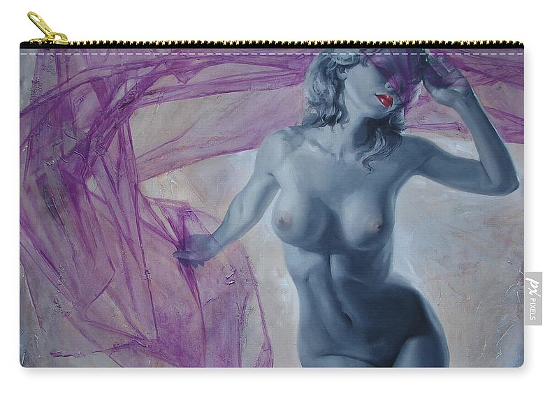 Ignatenko Carry-all Pouch featuring the painting Doll by Sergey Ignatenko