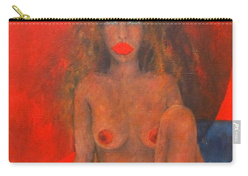 Colour Carry-all Pouch featuring the painting Doll by Wojtek Kowalski