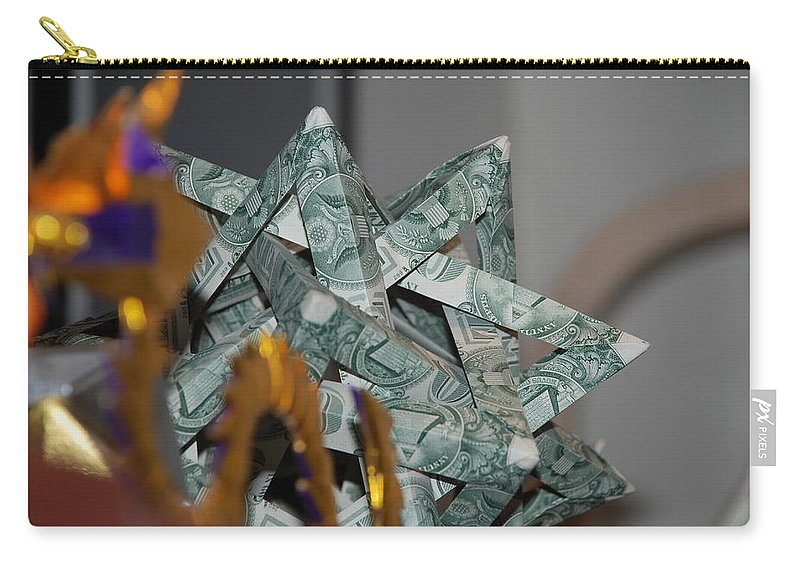 Dollars Carry-all Pouch featuring the photograph Dollar Origami by Rob Hans