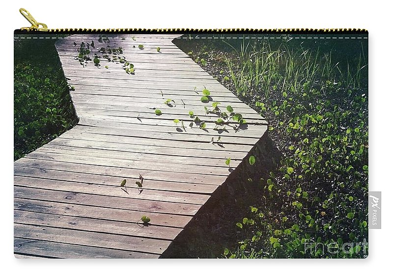 Dollarweed Carry-all Pouch featuring the photograph Dollarweed by Beth Williams
