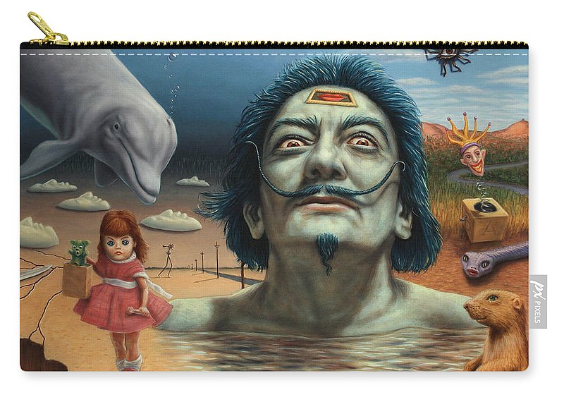 Dali Carry-all Pouch featuring the painting Dolly In Dali-land by James W Johnson