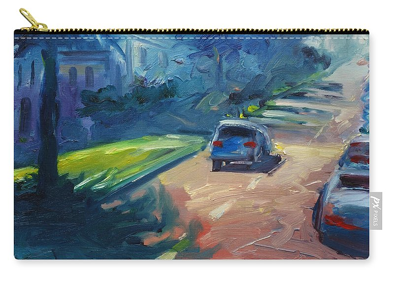Cityscape Carry-all Pouch featuring the painting Dolores Street by Rick Nederlof
