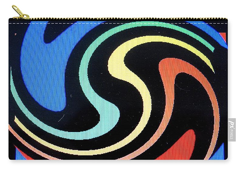 Dolphins Carry-all Pouch featuring the digital art Dolphins by Ian MacDonald