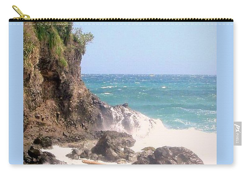 Dominica Carry-all Pouch featuring the photograph Dominica North Atlantic Coast by Ian MacDonald