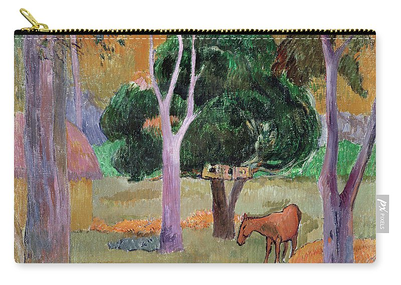 Dominican Landscape Or Carry-all Pouch featuring the painting Dominican Landscape by Paul Gauguin
