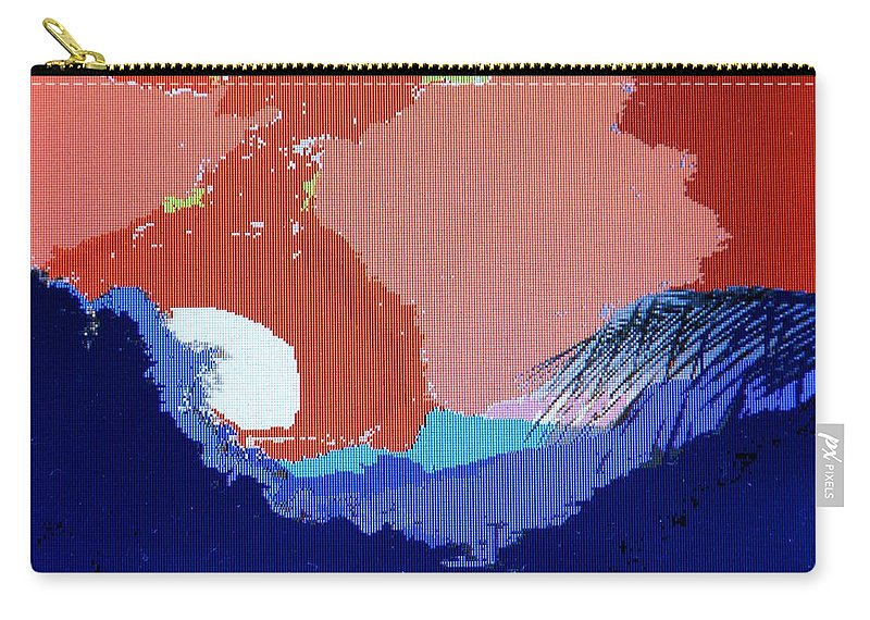 Digital Art Carry-all Pouch featuring the photograph Dominican Sunset by Ian MacDonald