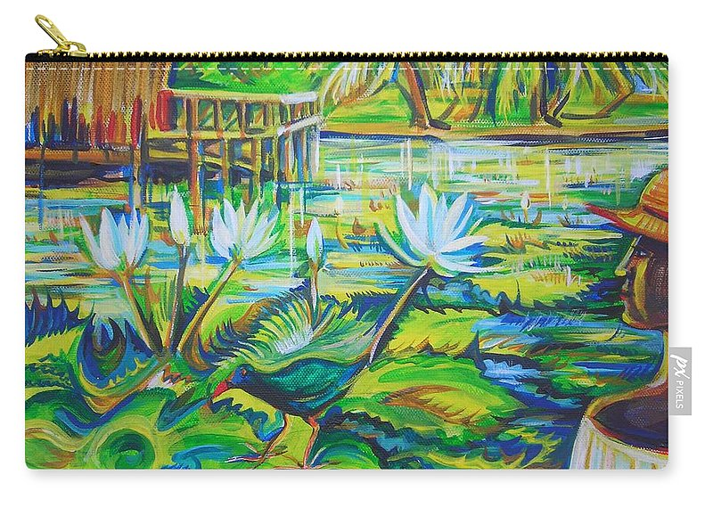Tropics Carry-all Pouch featuring the painting Dominicana by Anna Duyunova