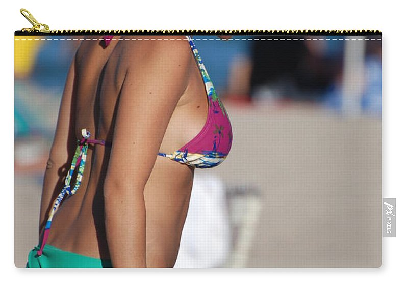 Girl Carry-all Pouch featuring the photograph Domino by Rob Hans