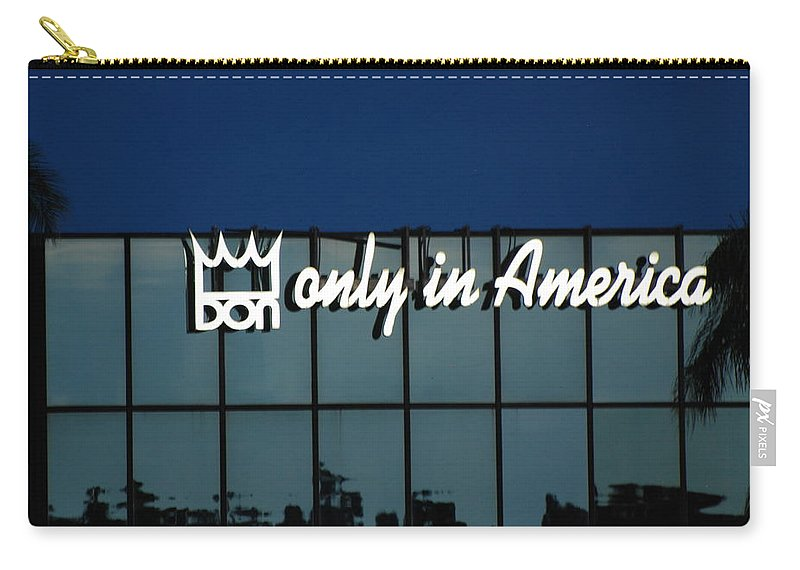 King Carry-all Pouch featuring the photograph Don King Only In America by Rob Hans