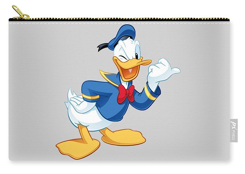 Donald Duck Carry-all Pouch featuring the digital art Donald Duck by Ivan Angelovski