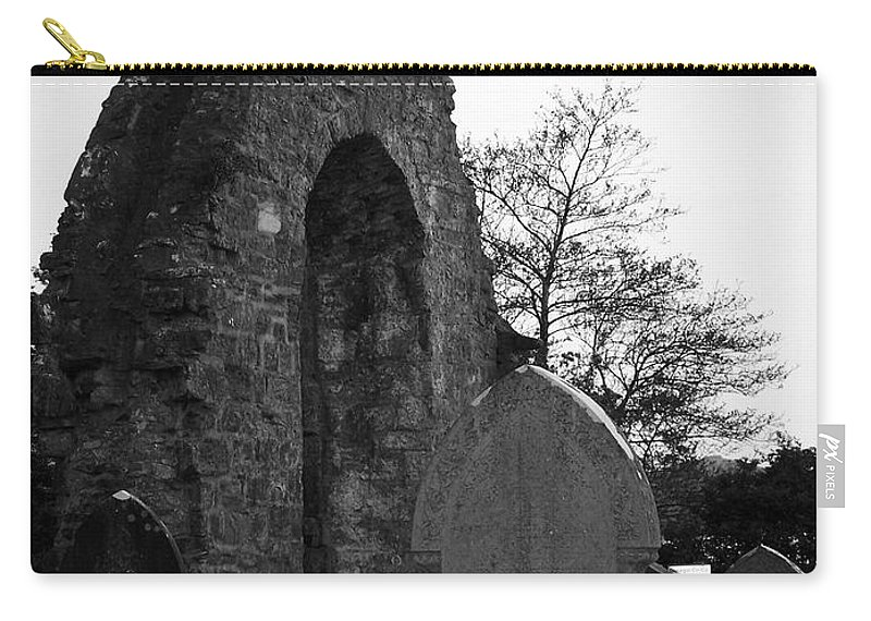Irish Carry-all Pouch featuring the photograph Donegal Abbey Ruins Donegal Ireland by Teresa Mucha