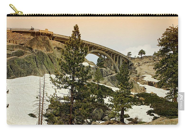 Donner California Carry-all Pouch featuring the photograph Donner by Donna Blackhall
