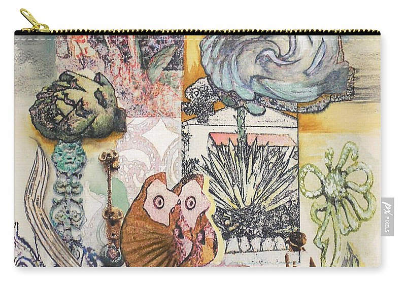 Abstract Carry-all Pouch featuring the painting Don't Artichoke by Valerie Meotti