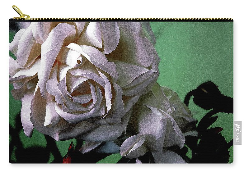White Rose Carry-all Pouch featuring the photograph Dont Be Sad by Susanne Van Hulst