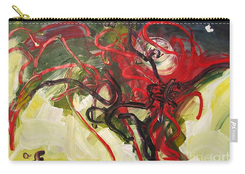 Abstract Paintings Paintings Abstract Art Paintings Carry-all Pouch featuring the painting Don't Bother Me by Seon-Jeong Kim