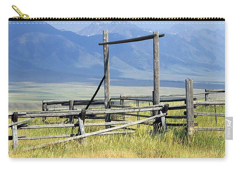Mountains Carry-all Pouch featuring the photograph Don't Fence Me In by Marty Koch