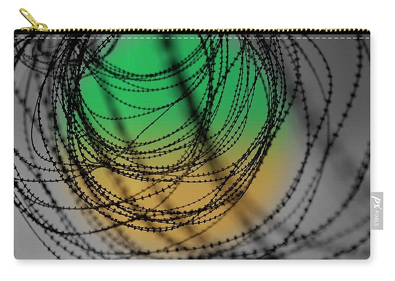 Iron Fence Carry-all Pouch featuring the photograph Don't Fence Me In by Susanne Van Hulst