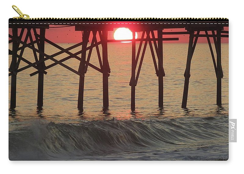 Carry-all Pouch featuring the photograph Don't Let The Sun Go Down On Me by Becky Haines
