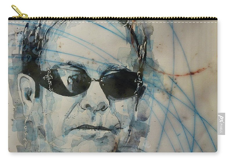 Elton John Carry-all Pouch featuring the painting Don't Let The Sun Go Down On Me by Paul Lovering