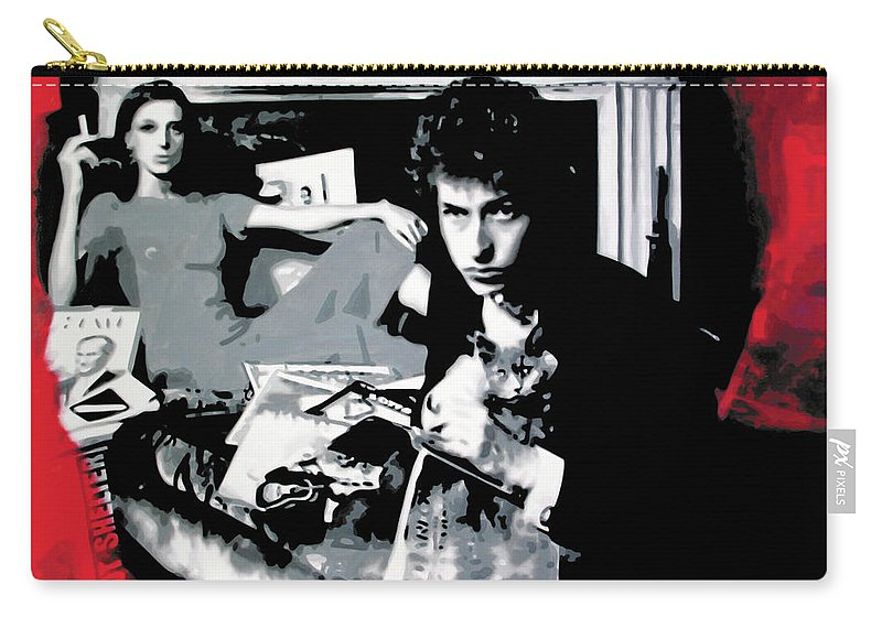 Ludzska Carry-all Pouch featuring the painting Dont Look Back by Luis Ludzska