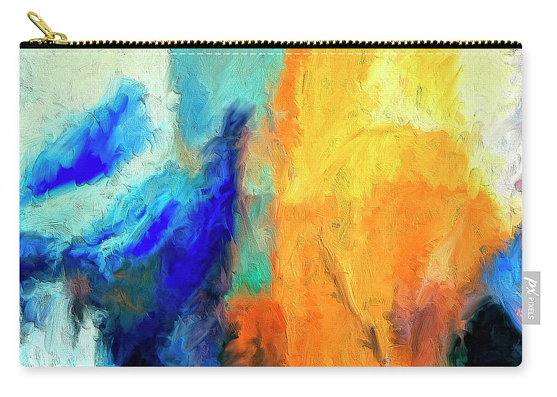 Don't Look Down Carry-all Pouch featuring the painting Don't Look Down by Dominic Piperata