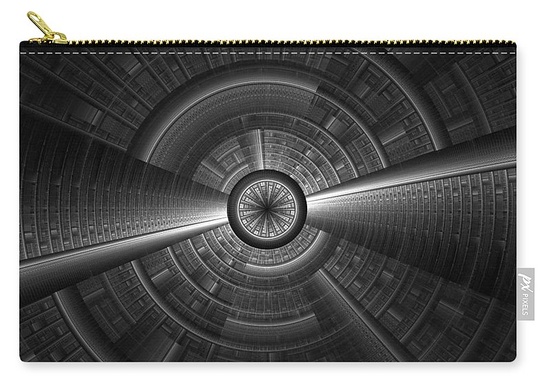 Abstract Carry-all Pouch featuring the digital art Don't Look Down by Georgiana Romanovna