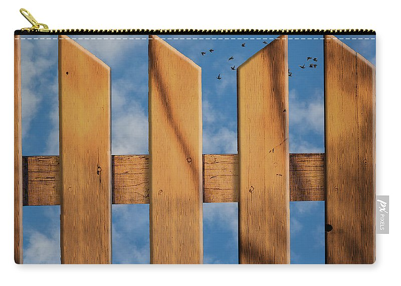 Don't Take A Fence Carry-all Pouch featuring the photograph Don't Take A Fence by Paul Wear