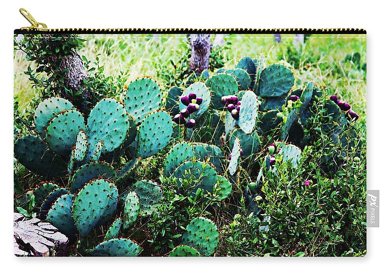 Texas Carry-all Pouch featuring the photograph Don't Touch by Melinda Dominico