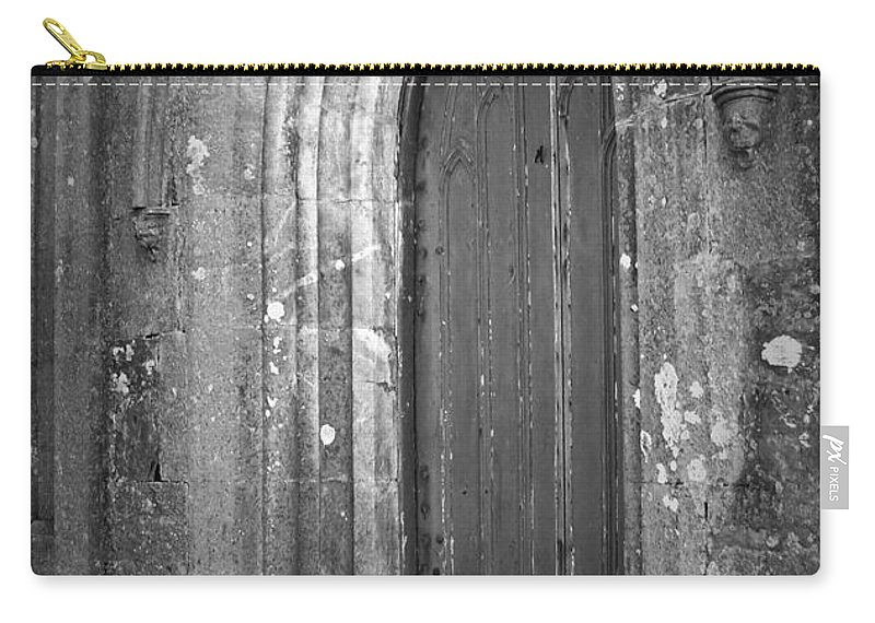 Irish Carry-all Pouch featuring the photograph Door At Protestant Church Macroom Ireland by Teresa Mucha
