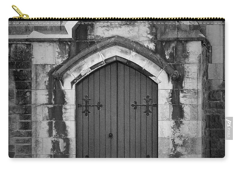 Irish Carry-all Pouch featuring the photograph Door At St. Johns In Tralee Ireland by Teresa Mucha