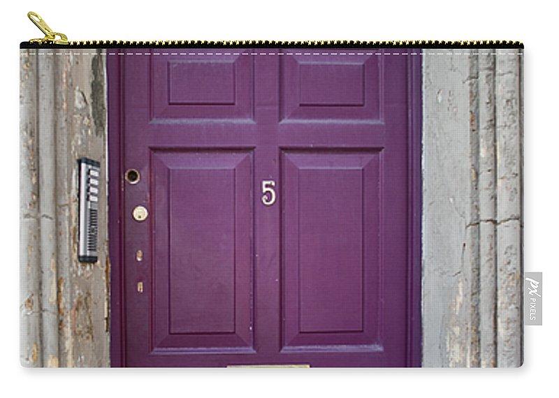 Door Carry-all Pouch featuring the photograph Door In Ireland 2 by Douglas Barnett