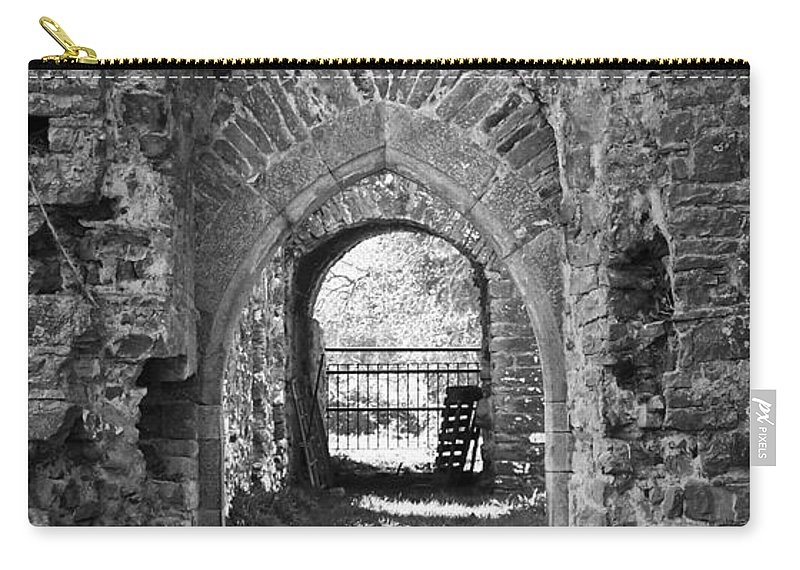 Irish Carry-all Pouch featuring the photograph Doors At Ballybeg Priory In Buttevant Ireland by Teresa Mucha