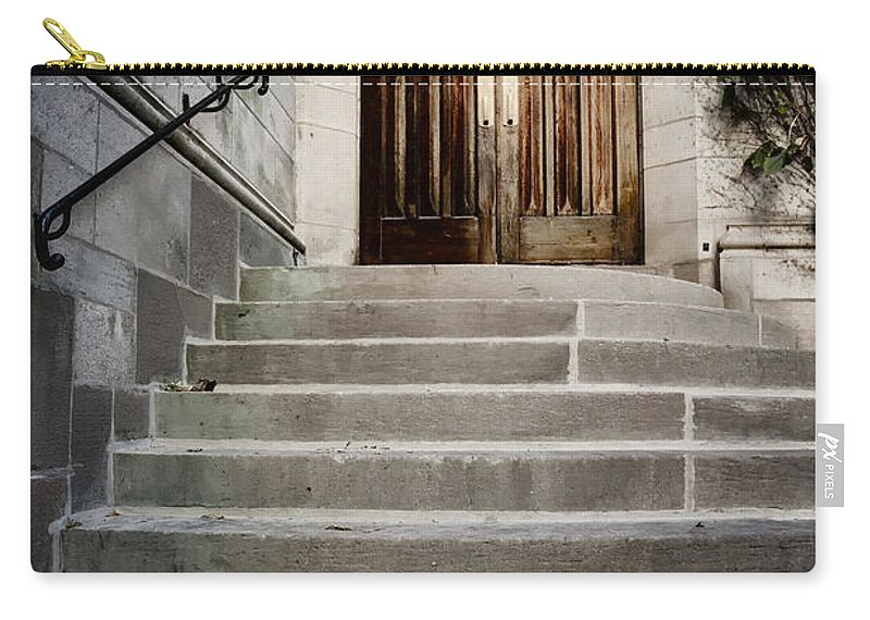 Steps Carry-all Pouch featuring the photograph Doors To Salvation by Margie Hurwich