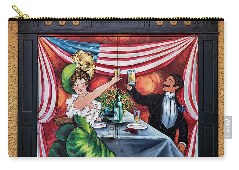 Carry-all Pouch featuring the photograph Doorway Mural by Richard Patrick