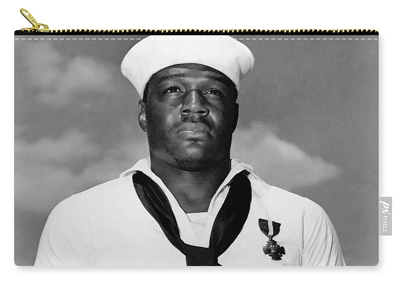 Dorie Miller Carry-all Pouch featuring the photograph Dorie Miller by War Is Hell Store
