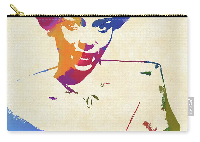 Dorothy Dandridge Watercolor Carry-all Pouch featuring the painting Dorothy Dandridge Watercolor by Dan Sproul