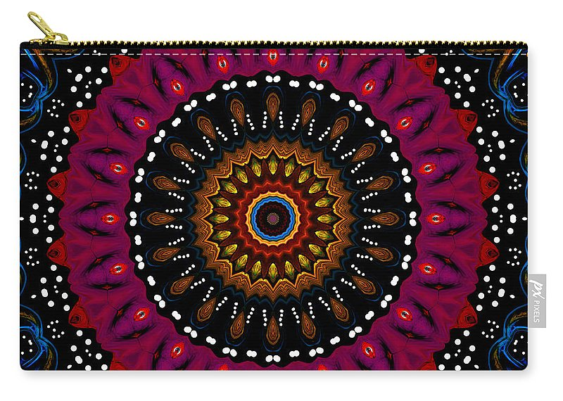 Digital Carry-all Pouch featuring the digital art Dotted Wishes No. 5 Kaleidoscope by Joy McKenzie