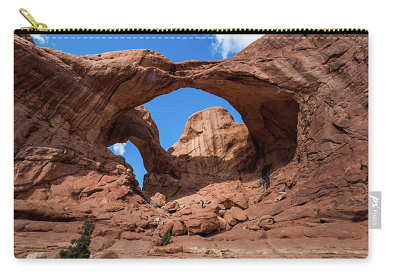 Carry-all Pouch featuring the photograph Double Arch by Tyler Meester