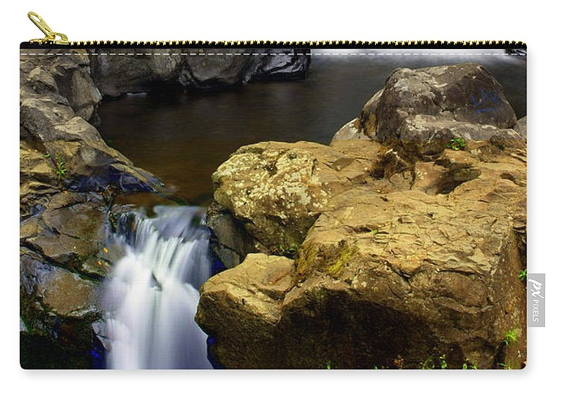 Waterfall Carry-all Pouch featuring the photograph Double Drop by Marty Koch