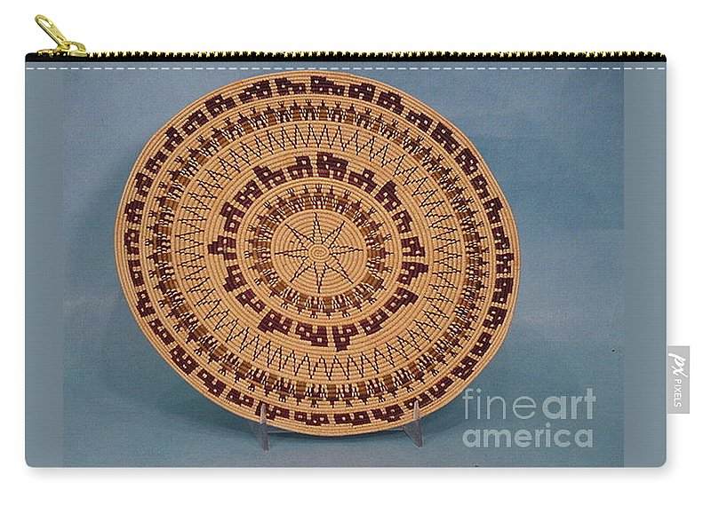 Basket Carry-all Pouch featuring the tapestry - textile Double Friendship Plate Basket by Darlene Ryer