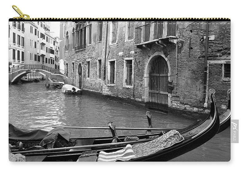 Venice Carry-all Pouch featuring the photograph Double Parked by Donna Corless