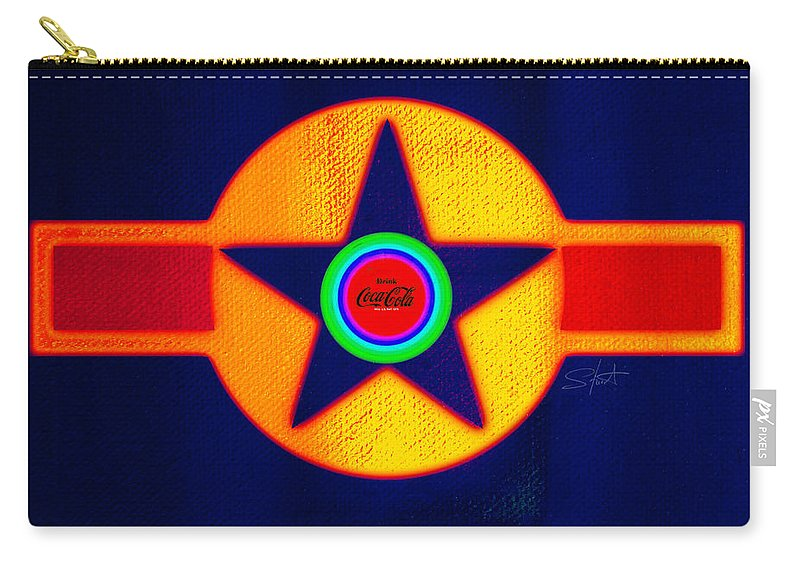 Usaaf Carry-all Pouch featuring the painting Double Red by Charles Stuart