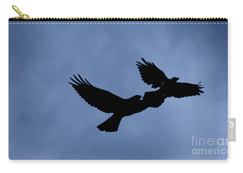 Birds Carry-all Pouch featuring the photograph Double Silhouette by Lori Tambakis