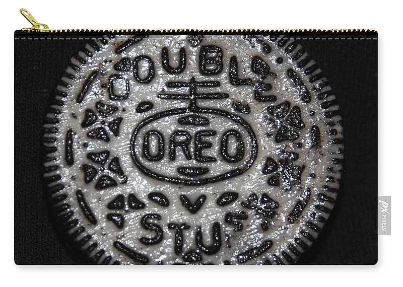 Oreo Carry-all Pouch featuring the photograph Double Stuff Oreo by Rob Hans
