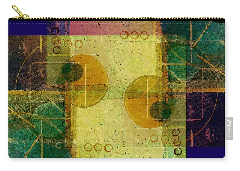 Abstract Carry-all Pouch featuring the digital art Double Vision by Ruth Palmer