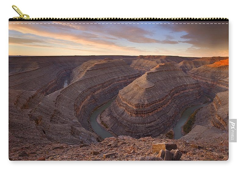 Goosenecks State Park Carry-all Pouch featuring the photograph Doubleback by Mike Dawson
