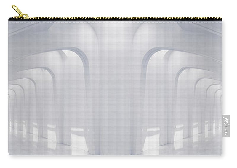 Hallway Carry-all Pouch featuring the photograph Doubled Arches by Scott Norris