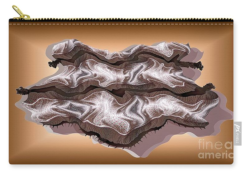 Abstract Carry-all Pouch featuring the digital art Doubt Its Redoubt by Ron Bissett
