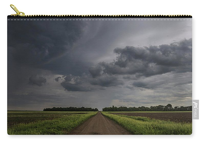Gravel Road Carry-all Pouch featuring the photograph Down A Little Dirt Road by Aaron J Groen
